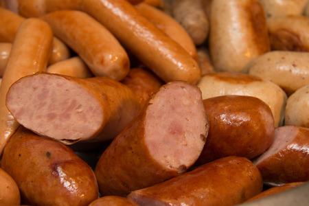 german sausage: A close-up of the delicious German sausage