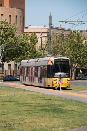 concurrent: Concurrent Tram  different destination. This is a convenient Public Transport