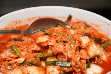 korean salad: Kimchi salad Korean traditional food in white dish