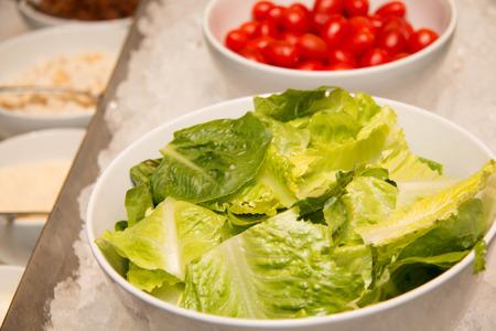salad buffet: Self service salad buffet in a restaurant Stock Photo