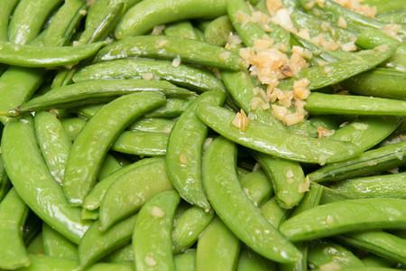 stir up: Close up of stir fried  vegetables  snow peas