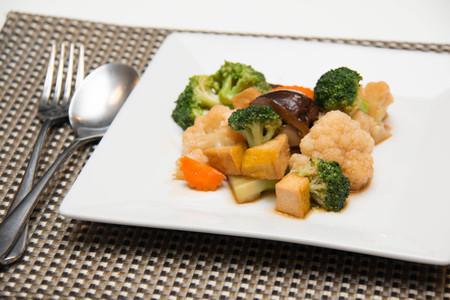 stir up: Close up photo of vegetarian  food stir fry