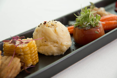 A typical  dinner starters in side dishes Stock Photo