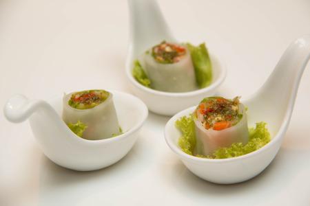A Goi Cuon Chay Vietnamese vegetable rolls