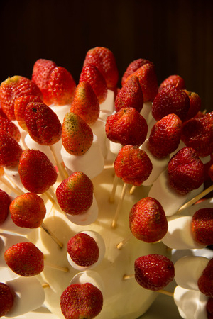 bring a fresh strawberry decorated beautifully background