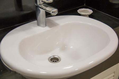 wash basin: A wash basin modern style bathroom sink   Stock Photo
