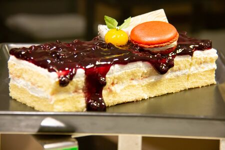 Close up delicious dessert pastry cakes Fresh colourful Stok Fotoğraf