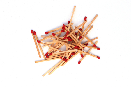 Matchstick out of matchbox isolated on white background High resolution image gallery.
