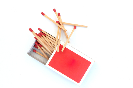 matches, opened matchbox, matchstick isolated on white background High resolution image gallery.