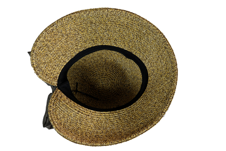 e23ca61834e1e Stock Photo - Vintage Straw hat fasion for woman isolated on white  background , High resolution image gallery.