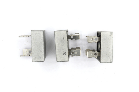 Diode bridge ,This Bridge Rectifier diode use for Power Supply. isolated on white background. High resolution image gallery.