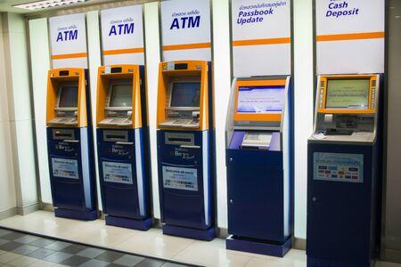 CHIANGMAI,THAILAND-MAY 3,2019 :   ATM of Bangkok Bank  High resolution image gallery. Editorial