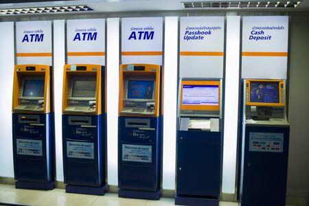 CHIANG MAI,THAILAND-MAY 3,2019 :   ATM of Bangkok Bank  High resolution image gallery.