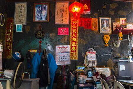 CHIANGMAI,THAILAND-JUN 3,2019 : office of Chinese people in market. High resolution image gallery.