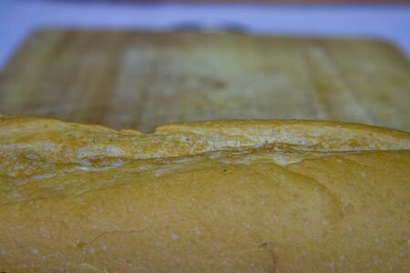 Baguette cut in half, Baguette bread, French bread, Organic baguette francese High resolution image gallery.