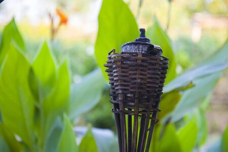 Traditional Thai lanna  bamboo light torch commonly used during Loy Kratong day festival  High resolution image gallery. Banco de Imagens