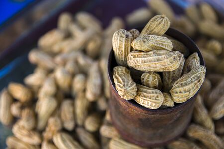 boil peanut in a cup Thai healthy food peanut corn boil .