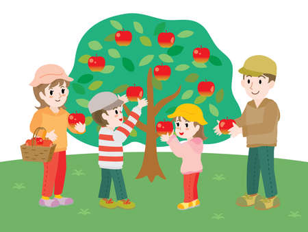 The family who does apple picking
