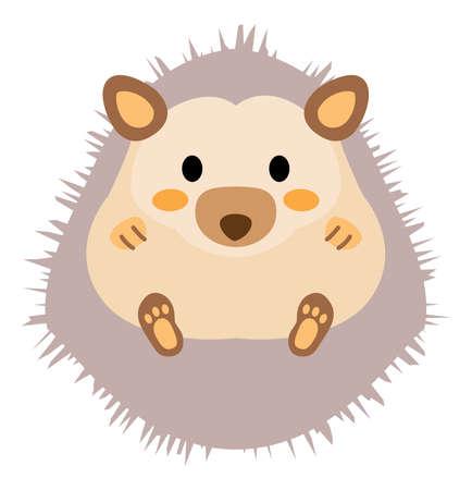 A cute gray hedgehog
