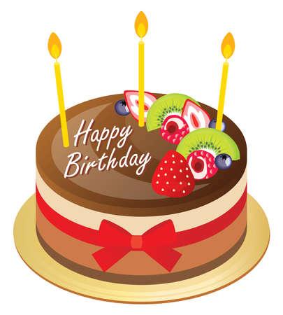 Birthday mousse cake of strawberry chocolate