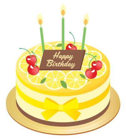 Birthday mousse cake of lemon