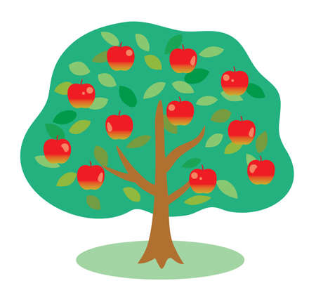 An illustration of apple tree