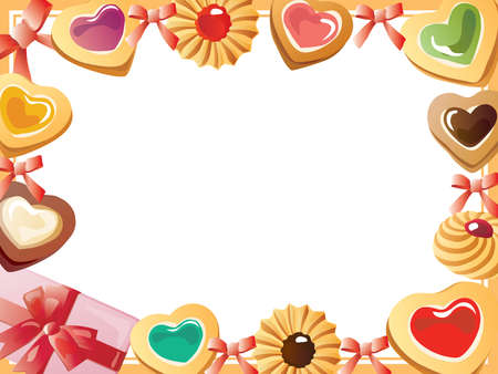 Frame of the heart-shaped cookie