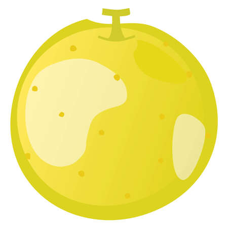 Illustration of a yellow pear