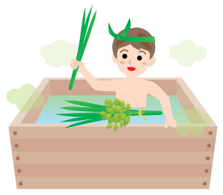 The child who takes a sweet-flag bath in Children's Day
