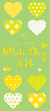 Background image of various heart of White Day