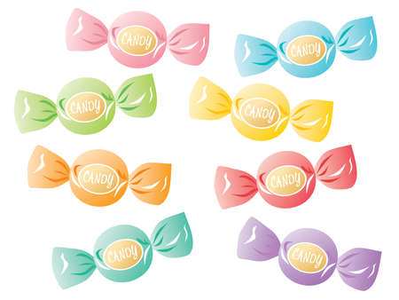 Set illustration of the colorful candy