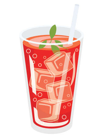 Illustration of the red cassis juice 向量圖像