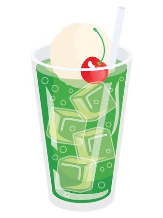 Illustration of the cream soda 向量圖像