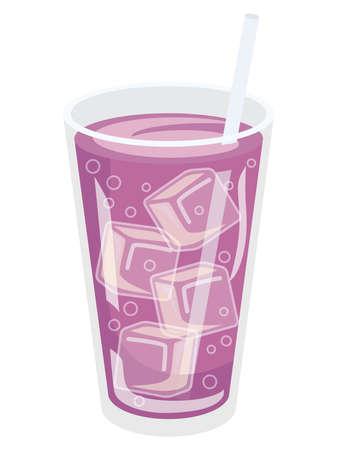 Illustration of the purple grape soda