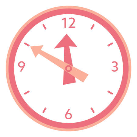 Illustration of the simple red clock