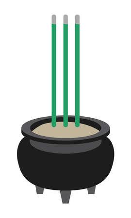 Illustration of a incense holder of Buddhism Vecteurs