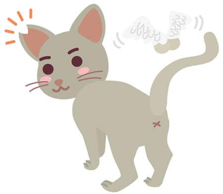 Boy of the regional cat which cut an ear Vetores