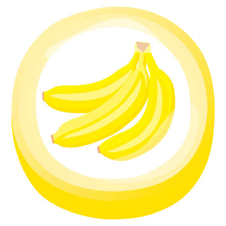 Illustration of fruit candy of banana