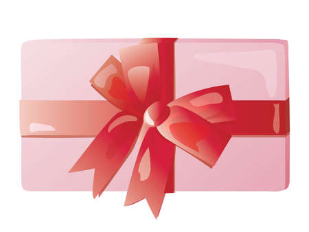 Illustration of the pink box of present Vector Illustratie