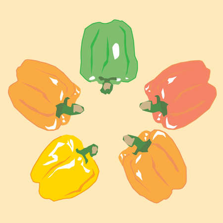 Illustration of the bell peppers