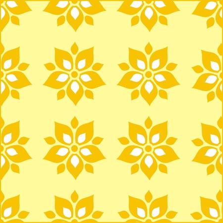 textil: Floral pattern wallpaper Illustration