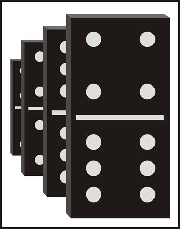 Vector dominos graphic Vector