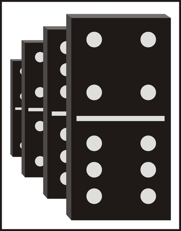 domino effect: Vector dominos graphic