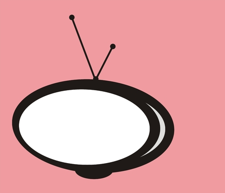 Abstract isolated retro tv graphic Vector