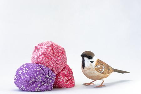 animal figurines: Japan play beanbags and sparrow