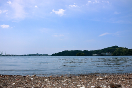 Japan landscape Urado Bay Tsuzuki island Stock Photo