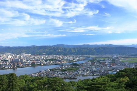 Japanese landscape Mt. Godai A view