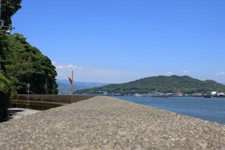 上から見た日本五代山の風景