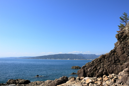View from the Cape Oyama (Aki city, Kochi prefecture)