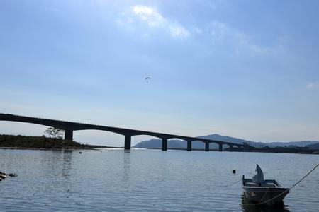 Landscape of the niyodo River estuary Imagens